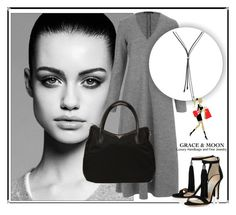 """""""SHOP - Grace and Moon Luxury"""" by ladymargaret ❤ liked on Polyvore featuring Trowbridge, The Row and Prada"""