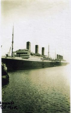 RMS Majestic with RMS Olympic in the background.