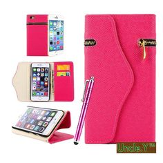 Amazon.com: Iphone 6 Plus Case,6 Plus Case,$Uncle.Y PU Leather Wallet Flip Case Pure Back Zipper Magnet Button With Lanyard For Iphone 6 Plus Case Rose Red: Cell Phones & Accessories