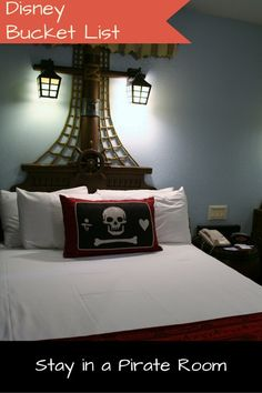 Disney Bucket List - stay in a pirate themed room at the Caribbean Beach resort!