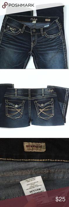"""Silver Jeans 31""""x32"""" Silver Jeans, inky dark wash 31""""x 32"""" McKenzie boot cut, minor wear. Silver Jeans Jeans Boot Cut"""