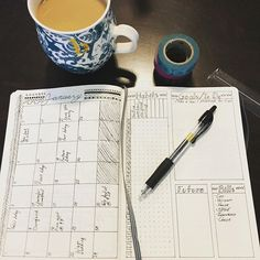 Getting my new Leuchtturm 1917 all set up for the new year. #bulletjournal #readyfor2017
