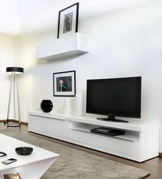 Temahome Valley, TV unit with Optional Modular Units in Pure White