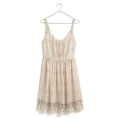 Madewell  Sun Isle Dress In Moroccan Floral- this is a great dress to layer into fall with thick tights + a long cardigan + a brown belt + brown boots