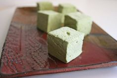 Matcha Marshmallows | substitute corn syrup for honey