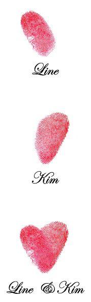 Sjov ide med hjerte af fingeraftryk