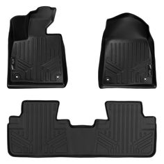 Nylon Carpet Coverking Custom Fit Rear Floor Mats for Select Chevrolet Tahoe Models Gray