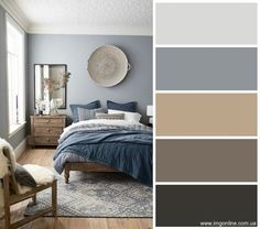 Hygge color palette Hugge Style Color Palette color hugge hygge palette style Genel is part of Hygge bedroom - Dark Blue Bedrooms, Blue Master Bedroom, Blue Gray Bedroom, Master Bedrooms, Master Suite, Bedroom Paint Colors, Bedroom Color Schemes, Colour Schemes For Living Room, Warm Bedroom Colors