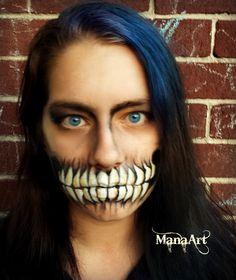 Teeth makeup Skull ManaArt Face and Body Painting ManaArtOnline.com