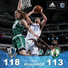 Dallas Mavericks - Postgame Score Graphic