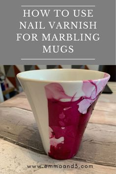 Did you know that you can use nail varnish for marbling mugs? This easy step by step tutorial will explain the process of DIY marbling at home Marble Mugs, Tuff Tray, Craft Projects, Upcycling Projects, Craft Ideas, Cocktail Sticks, Parenting Teenagers, Play To Learn