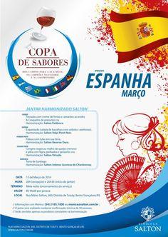 Data: 15/03/2014 Tema: Espanha Chef: Idana Spassini Sommelière: Mônica Coletti