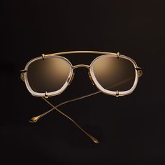The TALON TWO Aviator Sunglasses in Rose Gold by DITA Eyewear.