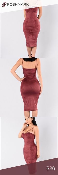 Rich like suede 🌹Brand new with tag.                                                                 🌹Faux suede.                                                                        🚫 no Trade Fashion Nova Dresses