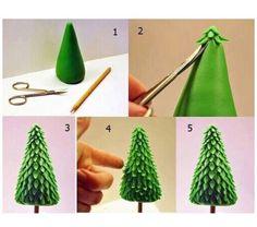 Sapin de Noel en pâte fimo ! Facile et simple :)