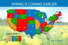 Spring has come earlier across the states   Climate Central
