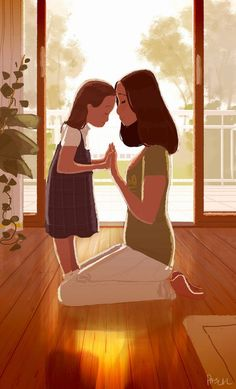 Risultati immagini per pascal campion guy illustration Mother Daughter Quotes, Mom Daughter, Mother And Child, Mother Art, Daughters, Image Fashion, Pascal Campion, Foto Baby, Get Happy