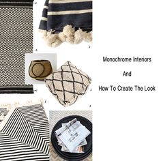 Monochrome interiors can be difficult to pull off as they can look cold and clinical. We look at the five elements required to create this look. Monochrome Interior, Vintage Furniture, Interior Inspiration, Textiles, Interiors, Contemporary, Create, Prints, Tips