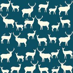 Elk Family Teal