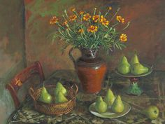 Discover the value of your art. Our database has art auction market prices for Margaret Hannah Olley, Australia and other Australian and New Zealand artists covering the last 40 years sales. Scenery Paintings, Visual And Performing Arts, Fruit Painting, Australian Artists, Pears, Marigold, Art Auction, Bold Colors, Still Life