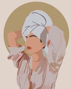 Illustration Art Drawing, Portrait Illustration, Digital Illustration, Art Drawings, Pretty Drawings, Design Illustrations, Bb Beauty, Little Presents, Art Mural