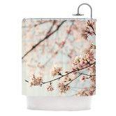 Found it at Wayfair - Japanese Blossom Polyester Shower Curtain #nursery #cottagechic