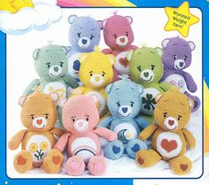 E book Care Bears Crochet Pattern