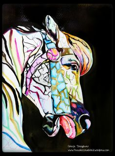 Het paard uit de draaimolen, getekend door Grietje Drooglever, www.feestdercreativiteit.wordpress.com