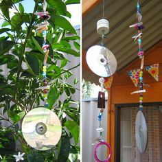 Fine Motor Fun: Threading Mobiles for toddlers and preschoolers