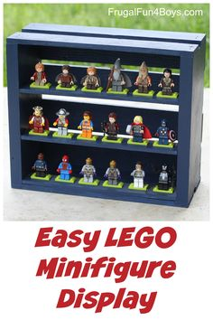 DIY Wooden Crate Minifigure Storage - This is so cool!  Would also make a great gift idea.
