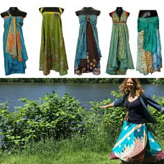 One-of-a-Kind Sari Silk Wrap Skirts Sari Fabric, Sari Silk, Handmade Skirts, Gypsy Skirt, Renaissance Clothing, Silk Wrap, How To Feel Beautiful, Slow Fashion, Wrap Skirts