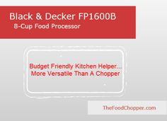 Black & Decker FP1600B Food Processor Review