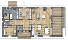 LATO 149 B - Kannustalo House Plans, Sweet Home, Floor Plans, Layout, Windows, Flooring, Architecture, Ideas, Arquitetura