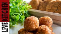 Easy To Make Snacks, Potato Croquettes, Greek Recipes, Kitchen Living, Ale, Snack Recipes, Muffin, Potatoes, Vegetarian