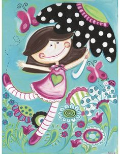 love this cute canvas for a girl's room!