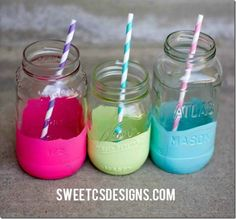 Color Dipped Jars -