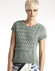 Ravelry: #28 Cap Sleeve Top pattern by Wenlan Chia