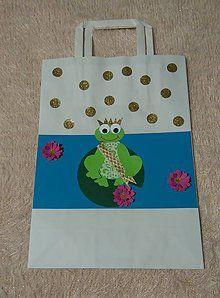 Papiernictvo - darčeková taška - žabia kráľovná - 6238287_