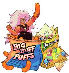 Big cheeto puff  and space dorito