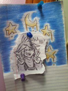 Lazy doodle of carefree child