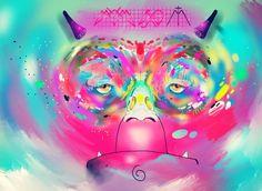illustration  graphic art mambo monkey color