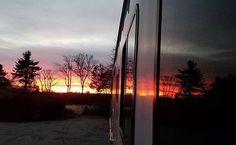 Petersham #massachusetts #sunset by @dj_parallax - LOVE! #rvlife #rvgems #homeiswhereyouparkit #rvliving #wanderlust #camp #fulltimerv #camplife #camping #travel #outdoors #nature #travelusa #wandering #campvibes #nomad #boondocking #roadtrip #gorving #gypsy #reflection