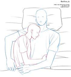 🍑 Bucheon Anyphotobot on - Anime Base/poses - Couple Poses Drawing, Couple Poses Reference, Drawing Body Poses, Body Reference Drawing, Drawing Reference Poses, Couple Drawings, Easy Drawings, Drawing Ideas, Sleeping Pose