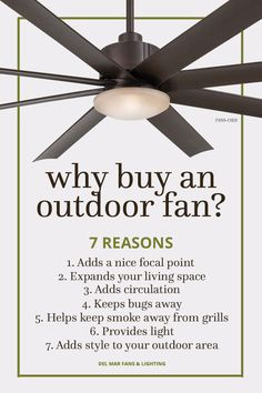Outdoor ceiling fans allow you to expand your living space to outside your home, creating a comfortable and functional environment no matter the weather.