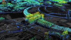 Berlin Central Train Station as seen by TerraSar-X; Surface movement.