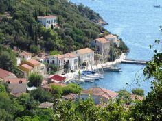 The village of Kioni, on Ithaca, Greece.