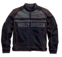 Free shipping - Harley-Davidson Men's Tailgater Textile & Mesh Riding Jacket 98554-14VM - Mens/Jackets & Vests/Functional Jackets -