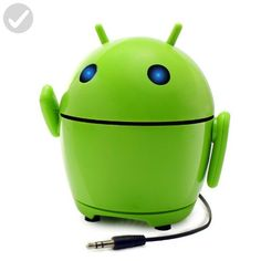 GOgroove Portable Android Speaker with Rechargeable Battery and Cute Alien Design - Works with your Desktop PC , Laptop , Smartphone and Other Multimedia Devices! - Audio gadgets (*Amazon Partner-Link)