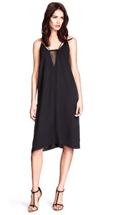 H&M black crepe dress $15