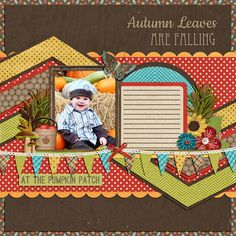 .Fun fall page and colors